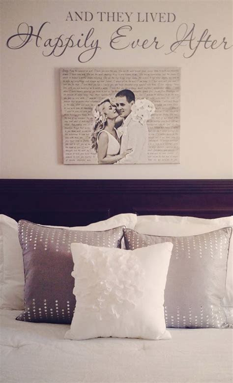 Cute canvas artwork with your wedding portrait. love the