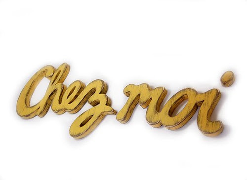 Etsy Find 8- Chez Moi Sign from OldNewAgain, Chez Moi Typography Sign for your Home, Etsy Finds