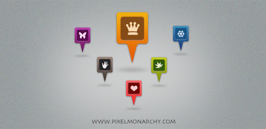 Free PSD: Map Icons / Markers Collection (PSD) | Pixel Monarchy