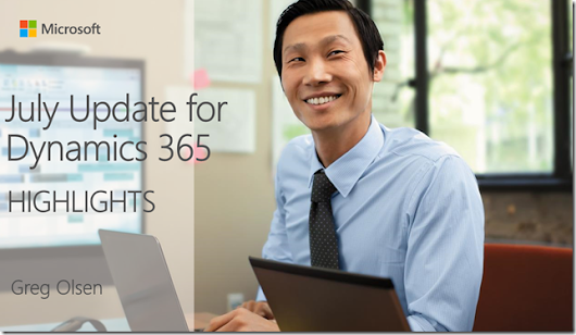 Dynamics 365 – The Next Release – July Update (v9.0)