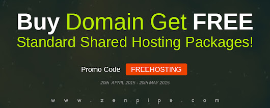 BUY DOMAIN GET FREE STANDARD SHARED HOSTING PACKAGES! | Zenpipe