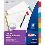 Avery Big Tab Write & Erase - Divider - 8 parts - tabbed