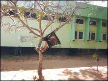 Black flag hoisted at University of Jaffna on February 04 'Sri Lanka' Independence Day