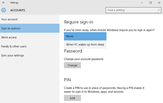 How to Disable Windows 10 Password Prompt on Wakeup