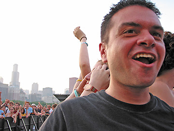 Chris Dancing to The Pixies, Lollapalooza, 2005