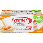 Premier Protein Hormone Free Shakes 11 oz., 18-Pack, Caramel