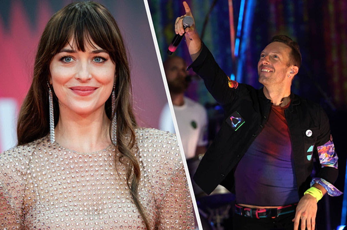 """Dakota Johnson Received A Rare Shoutout From Chris Martin During A Concert, Where He Called Her His """"Universe"""""""
