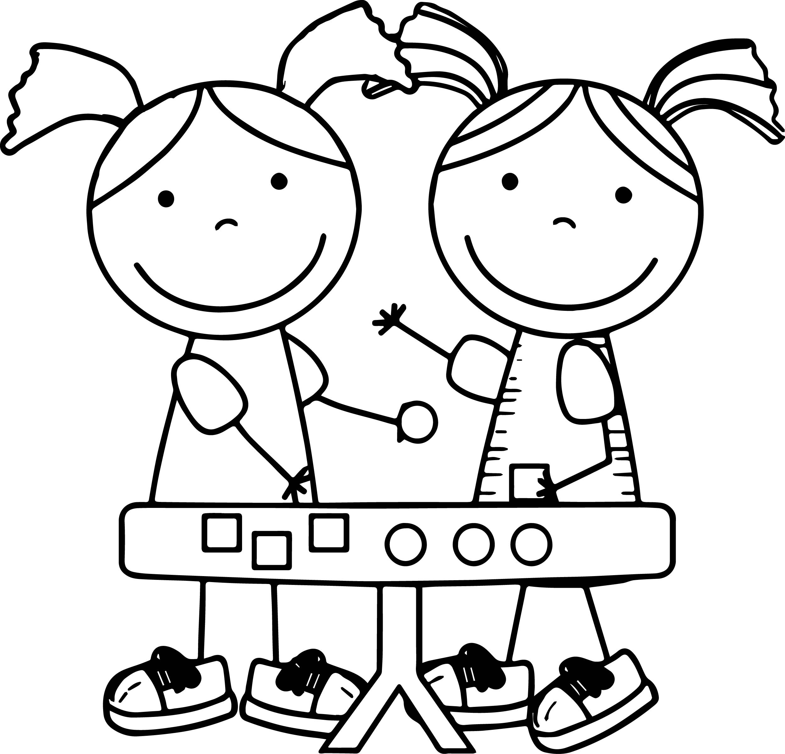 Math Game Girl Kids Coloring Page | Wecoloringpage.com