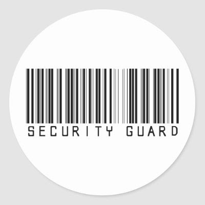 barcode label sticker. Guard Bar Code Stickers by