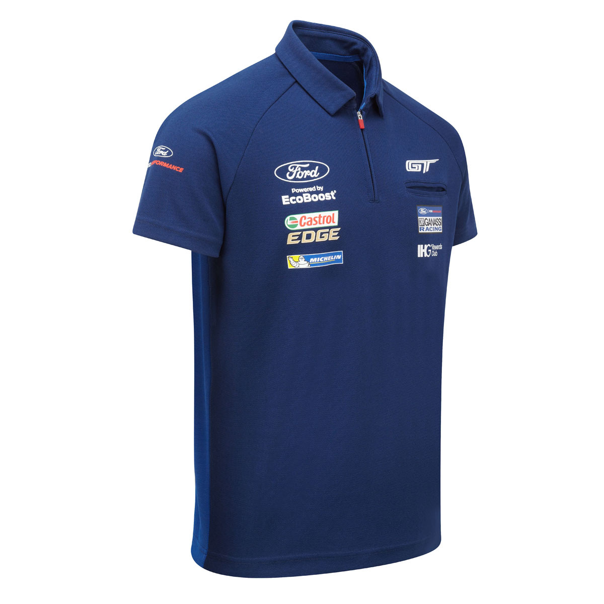 Ford Motorsport Mens Polo Shirt Zip Collar - WEC Ford GT ...