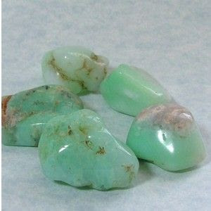Chrysoprase helps to make conscious what was unconscious. It strengthens the workings of insight and the higher consciousness.  *encourages hope and joy  *helps clarify problems  *has been used as a cure for restlessness  *protection on sea voyages  Chrysoprase is said to be the favorite gemstone of Alexander the Great.