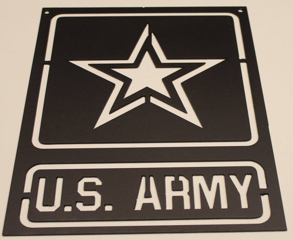 Army Sign Metal Wall Art Home Decor Flat Black Holt S Home Decor