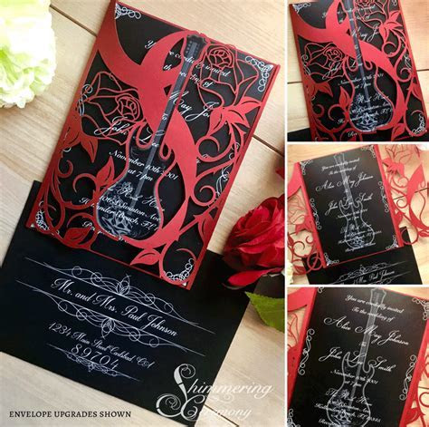 Rock and Roll Gate Invitation   Shimmering Ceremony