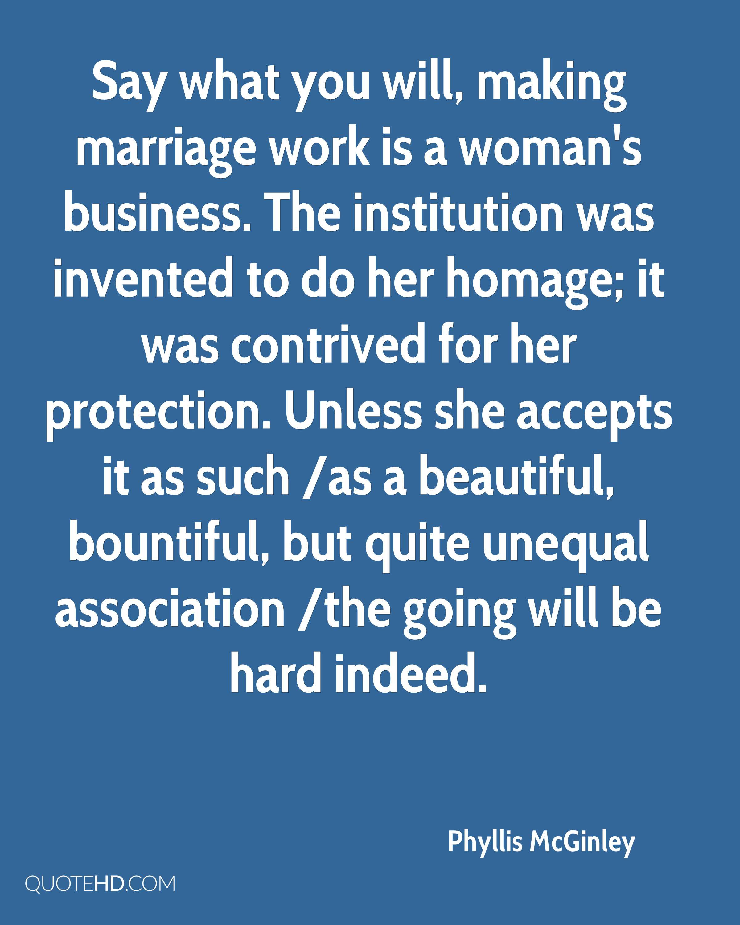 Phyllis Mcginley Marriage Quotes Quotehd