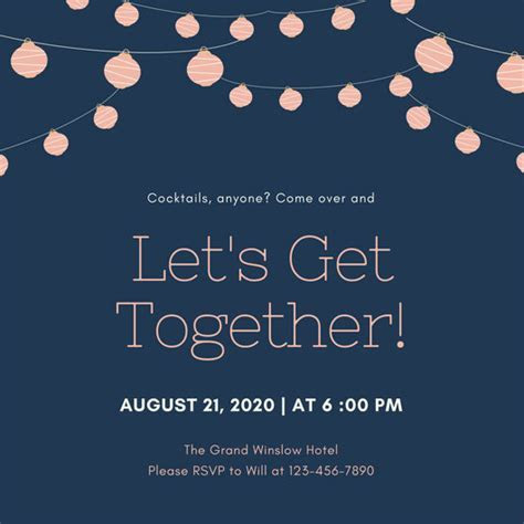 Customize 675  Get Together Invitation templates online