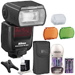 Nikon Speedlight SB-5000 Speedlight AF Flash for Nikon Cameras + Rechargeable Batteries Charger and Bundle