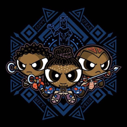 "In Homage to ""Black Panther""- The PantherPuff Girls!"