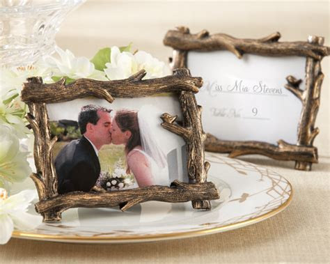 Rustic Fall Branch Place Card Holder/Photo Frame Favor
