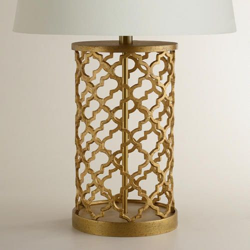 One of my favorite discoveries at WorldMarket.com: Distressed Gold Moroccan Table Lamp Base