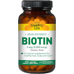 Country Life High Potency Biotin 60 Capsules 5 mg