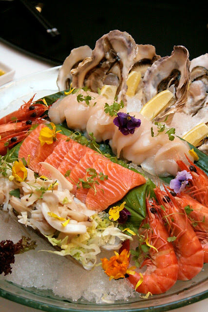 Seafood Deluxe Combination (selection of five seafood items): $23.00 per person