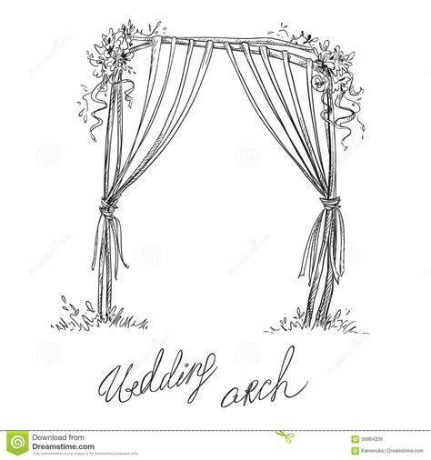 Wedding Arch. Decoration. Vector Sketch Stock Vector