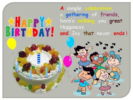 Merry Birthday Greetings For A Kid Free Birthday Wishes Ecards