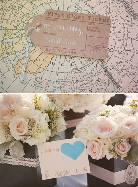 Travel themed vintage wedding   OneWed.com