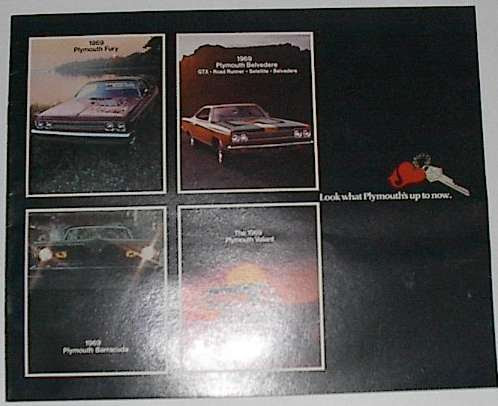 Nos 1969 Plymouth New Car Sales Brochure