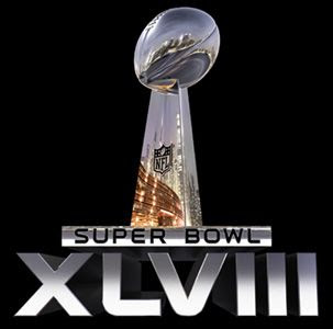 The logo for Super Bowl XLVIII in East Rutherford, New Jersey.