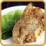 Baked Chicken with Mashed Ginger and Shallots