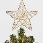 11in 20 LED Dew Light Wire Wrapped Star Tree Topper Gold - Wondershop