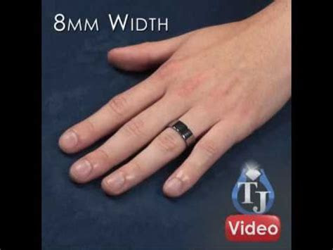 Matching Tungsten Rings   PIATTO, Flat Wedding Bands