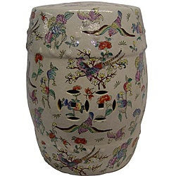 Bloomster Birds Porcelain Garden Stool