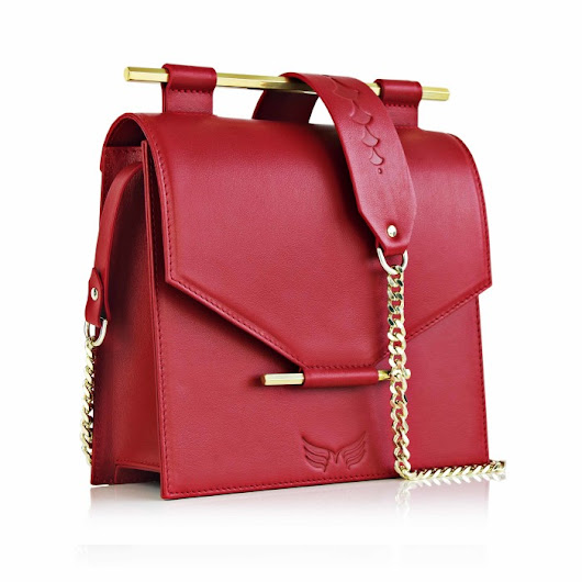 Ruby Red Square Bag