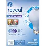 GE Reveal HD+ Light Light Bulbs, Enhanced Spectrum Halogen, 72 Watts - 4 bulbs