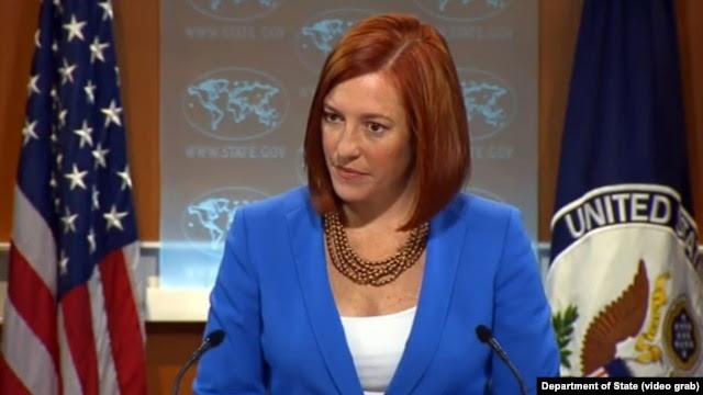 Phát ngôn viên Bộ Ngoại giao Mỹ Jen Psaki kêu gọi tất cả các bên kiềm chế trước khi lệnh ngừng bắn có hiệu lực vào Chủ nhật