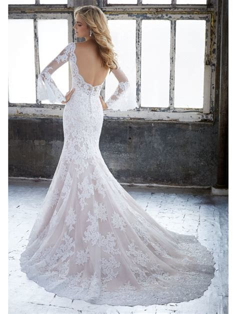 Mori Lee 8221 Kendall Fit And Flare Lace Dress With