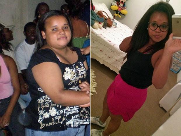 Karina sofreu com o excesso de peso na adolescência, mas conseguiu adotar uma vida mais saudável (Foto: Arquivo pessoal/Karina Moreira da Silva)
