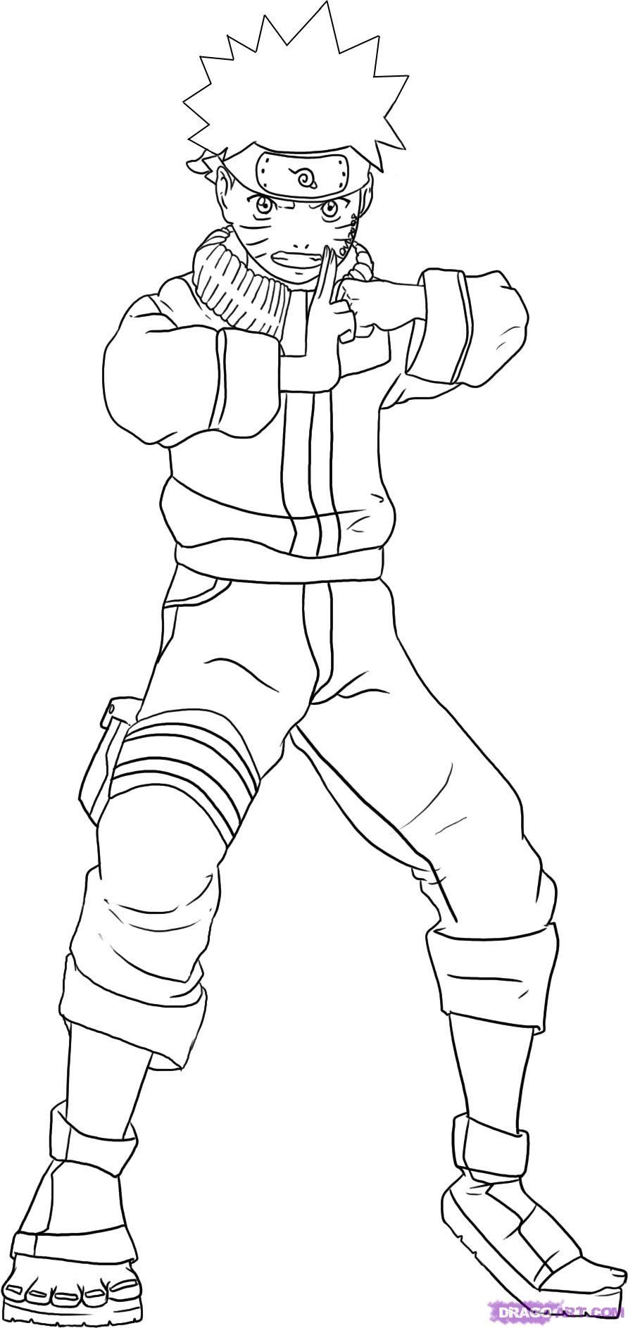 Draw Naruto Full Body Clip Art Library