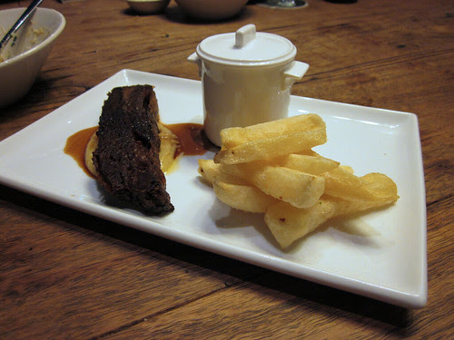 beef and thrice cooked chips