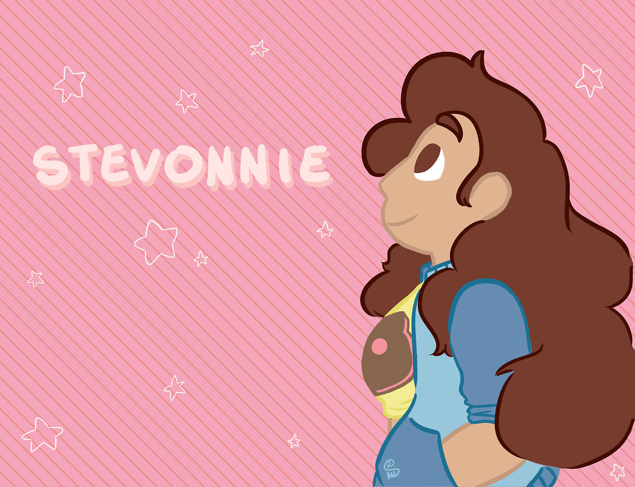 stevonnie from steven universe [[MORE]]college: senior year spring semester my ASPIRE teacher bought some steven universe buttons from me for her kids a little later she said that they really liked...