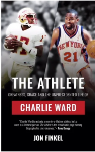 book cover of Charlie Ward's book, The Athlete