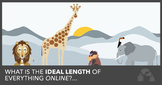 The Ideal Length of a Blog Post, Facebook Update and Email Subject Line