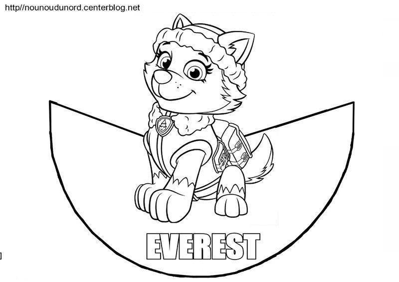 【Nouveau 2019】 Coloriage Everest Pat Patrouille