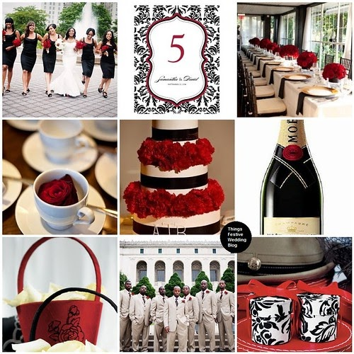 Red Black And Taupe Wedding Theme Inspired By Burberry