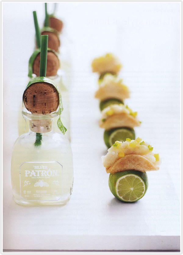 patron shots & mini taco's!! too cute
