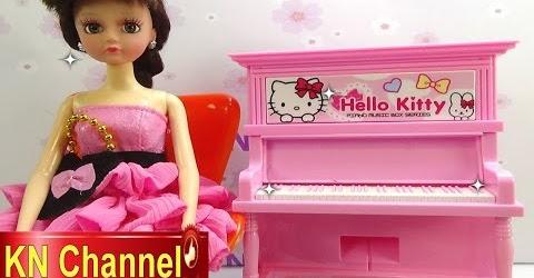 Đồ chơi trẻ em Bé Na búp bê Clara Đàn Piano mèo Hello Kitty Piano & baby doll Childrens toys