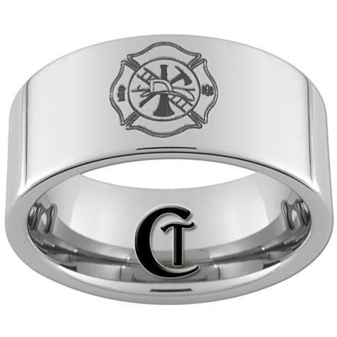 Etsy   Tungsten Carbide Fireman Laser Design Ring $49.00