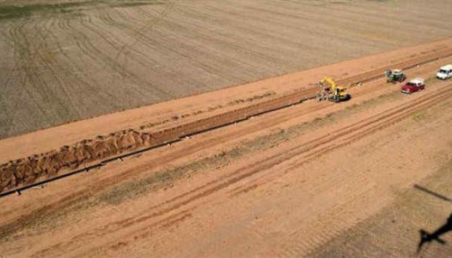 51 mil toneladas de tubos de acero se necesitan para el tendido de los gasoductos (LaVoz/Archivo)